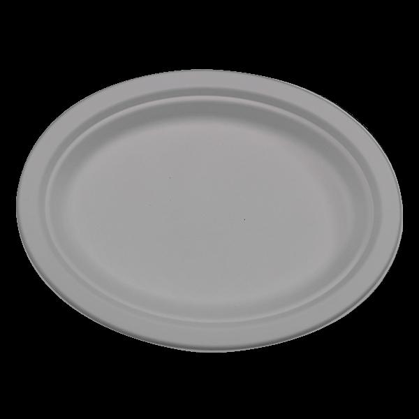 Bagasse Teller oval