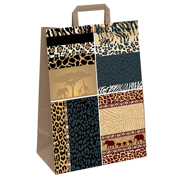 """Papiertasche mit Flachhenkel """"Afrika"""""""